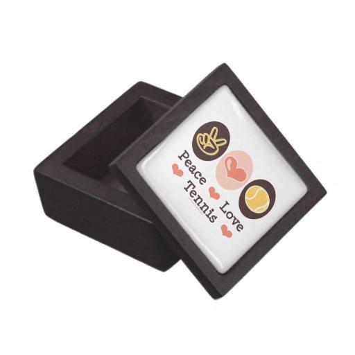 Caja de regalo del tenis del amor de la paz cajas de recuerdo de calidad