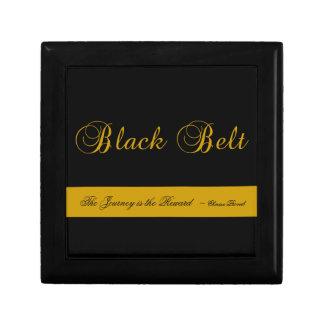 Caja de regalo del viaje de la correa negra de los joyero cuadrado pequeño