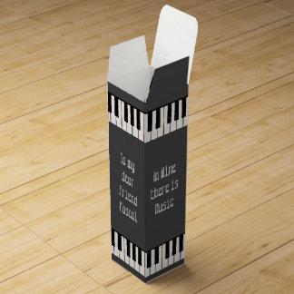 Caja de regalo del vino con llaves del piano cajas para botellas de vino