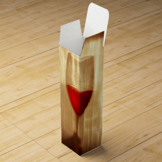 Caja de regalo del vino de la copa de vino caja para botella de vino