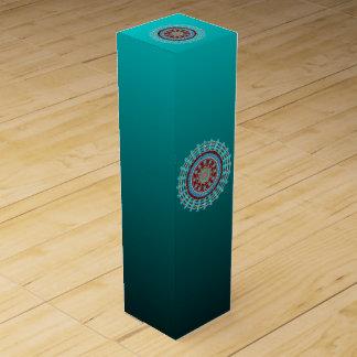 Caja de regalo del vino de las rotaciones cajas de vino