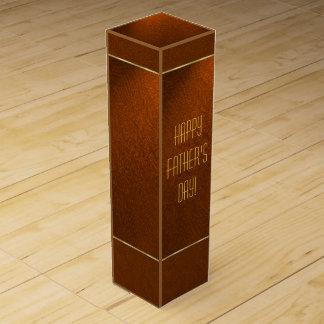 Caja de regalo del vino del día de padre cajas para vino