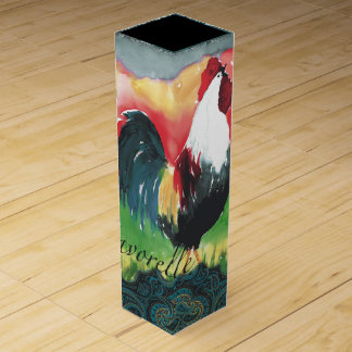 Caja de regalo del vino del gallo caja de vino