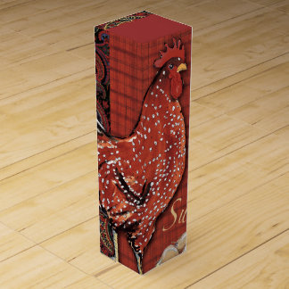Caja de regalo del vino del gallo caja para bino