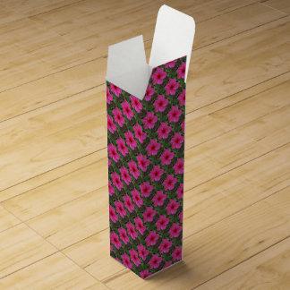 Caja de regalo del vino del hibisco de las rosas f cajas para vino