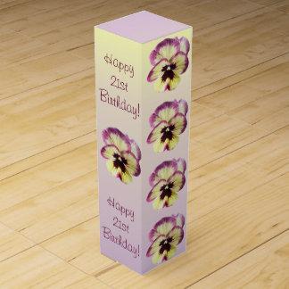 Caja de regalo del vino - pensamiento de la mancha caja para bino