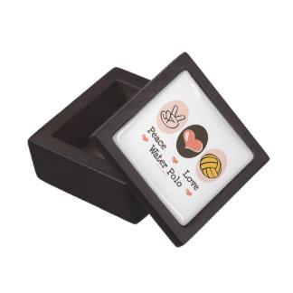 Caja de regalo del water polo del amor de la paz cajas de regalo de calidad