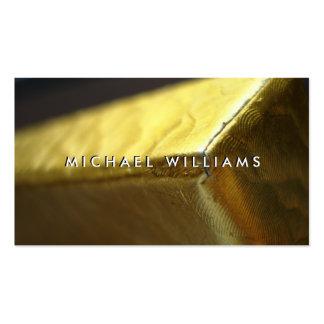 Caja de regalo dorado papel metálico tarjetas de visita
