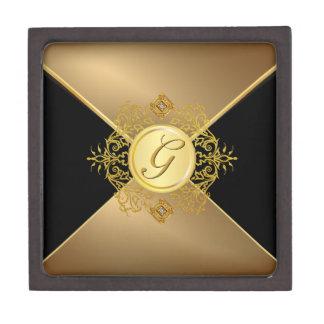 Caja de regalo elegante de la letra del oro del mo caja de recuerdo de calidad