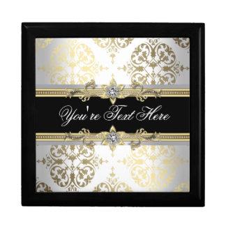 Caja de regalo elegante del recuerdo del damasco d