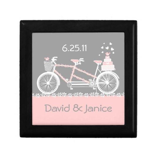 Caja de regalo en tándem de boda de la bicicleta