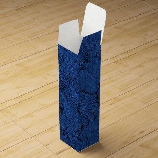 Caja de regalo esculpida del Azul-Vino de las Cajas De Vino