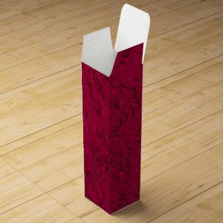 Caja de regalo esculpida del Magenta-Vino de las Caja De Vino