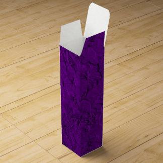 Caja de regalo esculpida del Púrpura-Vino de las Cajas Para Botellas De Vino