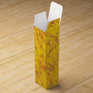Caja de regalo esculpida del vino amarillo de las caja para bino