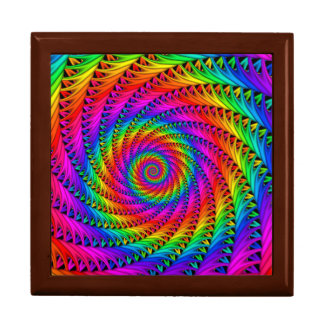Caja de regalo espiral del arco iris