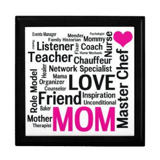 Caja de regalo estupenda de la mamá del día de mad joyero cuadrado grande