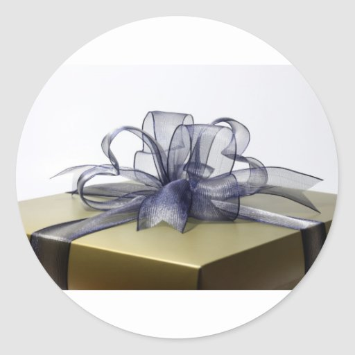 Caja de regalo etiqueta redonda