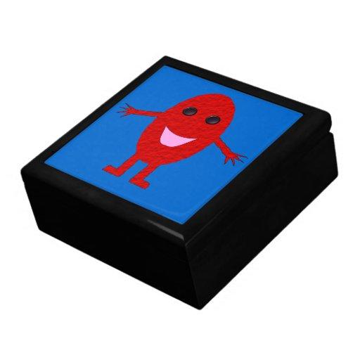 Caja de regalo feliz de la uva roja joyero cuadrado grande