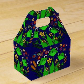 Caja de regalo feliz del arte popular de las ranas caja para regalo de boda