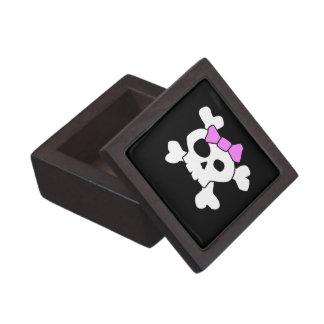 Caja de regalo femenina linda del premio del cráne cajas de joyas de calidad