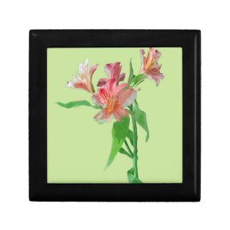 Caja de regalo floral magnífica joyero cuadrado pequeño
