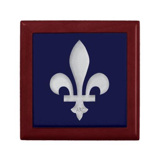 Caja de regalo floral romántica del escudo de arma joyero cuadrado pequeño
