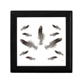 Caja de regalo flotante de las plumas