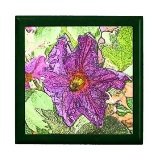 Caja de regalo grande de la teja de la flor de la