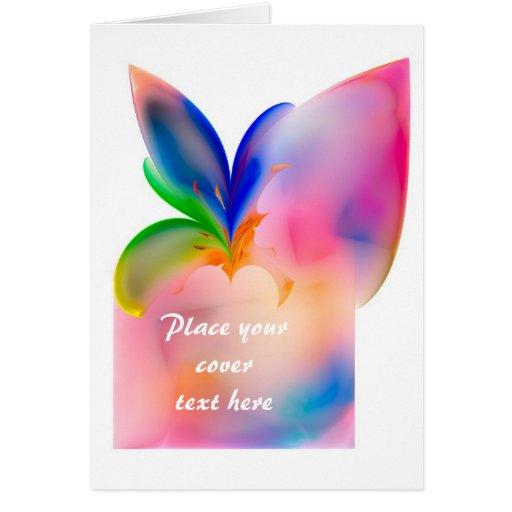 Caja de regalo grande del arco tarjeta de felicitación
