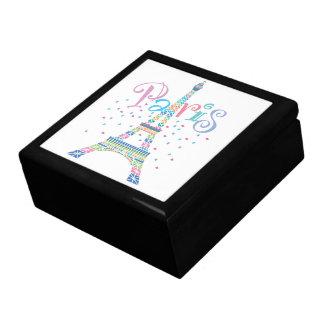 Caja de regalo grande del confeti de la torre Eiff