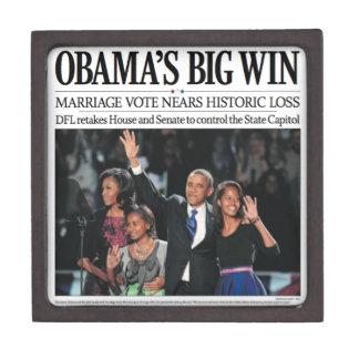 Caja de regalo grande del triunfo de Obama Caja De Regalo De Calidad