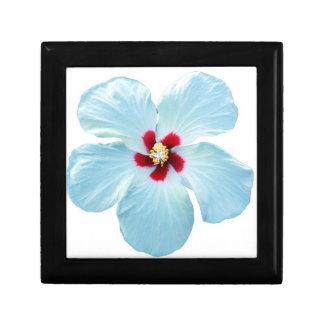 Caja de regalo hawaiana del hibisco joyero cuadrado pequeño