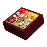 Caja de regalo hawaiana del recuerdo joyero cuadrado grande