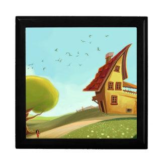 caja de regalo imaginaria de la casa