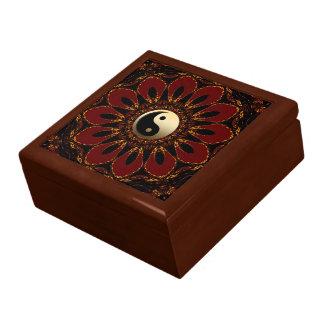 Caja de regalo laqueada flor de Earthalia Yin Yang
