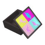 Caja de regalo linda de los dinosaurios del dibujo cajas de joyas de calidad