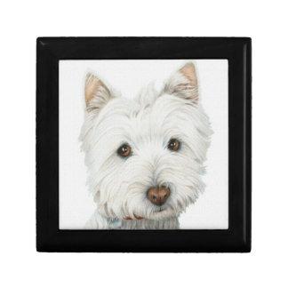 Caja de regalo linda del perro de Westie