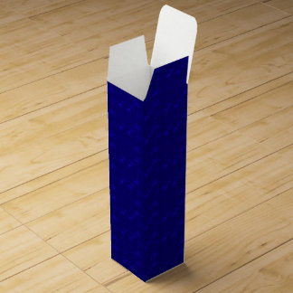 CAJA de REGALO metálica azul del Estrella-VINO