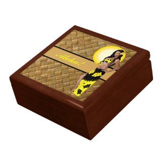 Caja de regalo modela de Wahine 1 Lauhala Joyero Cuadrado Grande