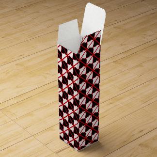 Caja de regalo negra del vino blanco y rojo cajas de vino