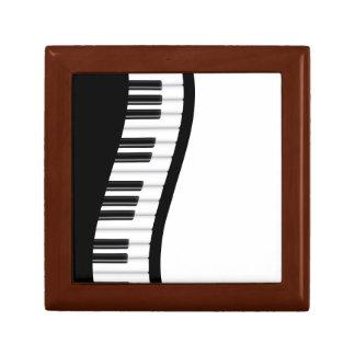Caja de regalo ondulada del teclado de piano