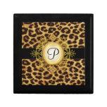 Caja de regalo para mujer de la joyería del leopar