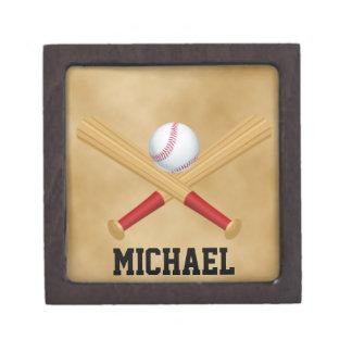 Caja de regalo personalizada del béisbol cajas de joyas de calidad