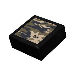 Caja de regalo personalizada del modelo de Camo Joyero Cuadrado Pequeño