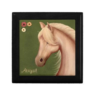 Caja de regalo personalizada del Palomino y del ca Joyero Cuadrado Pequeño