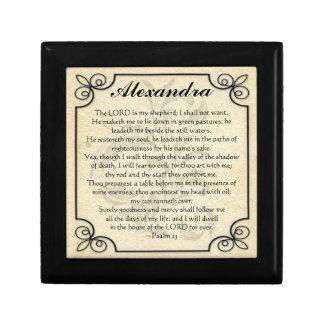 Caja de regalo personalizada del rezo del verso de joyero cuadrado pequeño