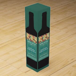 Caja de regalo personalizada del vino del cumpleañ cajas para vino