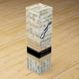 Caja de regalo personalizada música del vino del cajas para vino