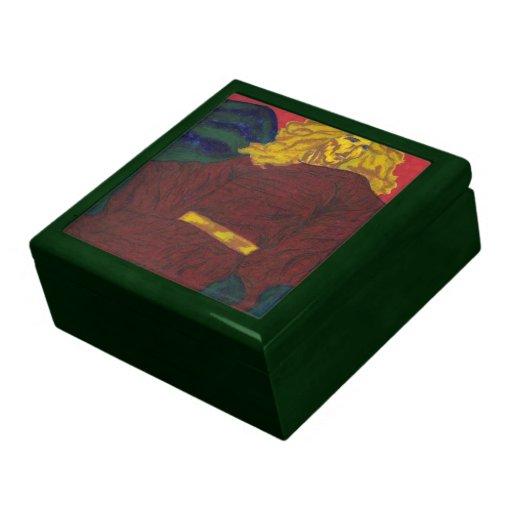 Caja de regalo pintada joyero cuadrado grande